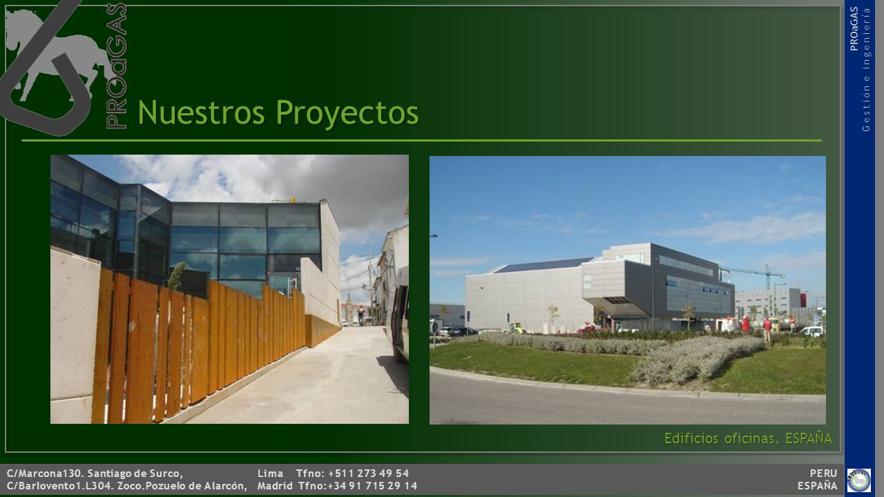 Nuestros Proyectos Edificios oficinas, ESPAÑA