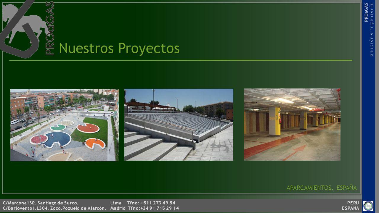 Nuestros Proyectos APARCAMIENTOS, ESPAÑA