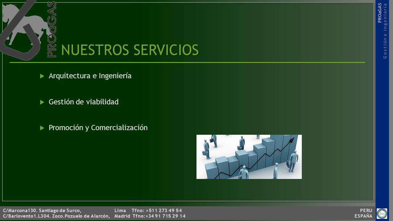 NUESTROS SERVICIOS Arquitectura e Ingeniería Gestión de viabilidad