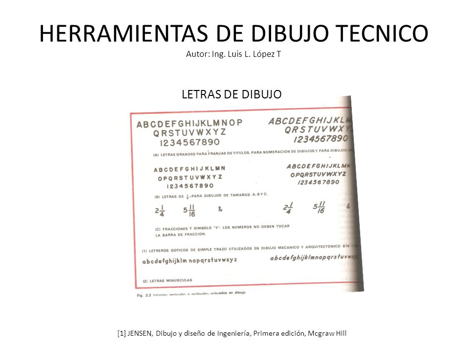 HERRAMIENTAS DE DIBUJO TECNICO Autor: Ing. Luis L. López T