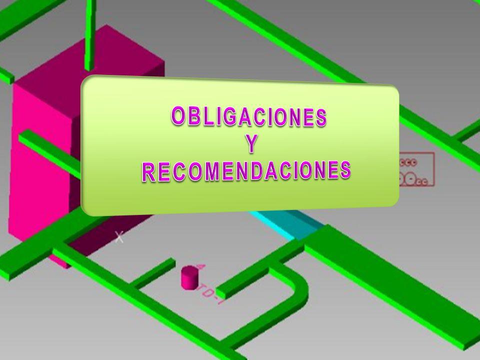 OBLIGACIONES Y RECOMENDACIONES