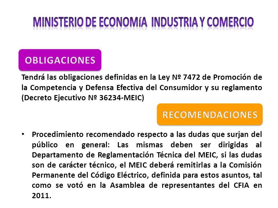 MINISTERIO DE ECONOMÍA INDUSTRIA Y COMERCIO