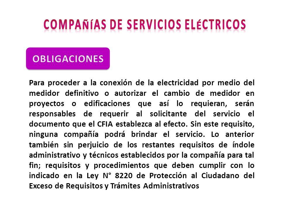 Compañías de Servicios Eléctricos