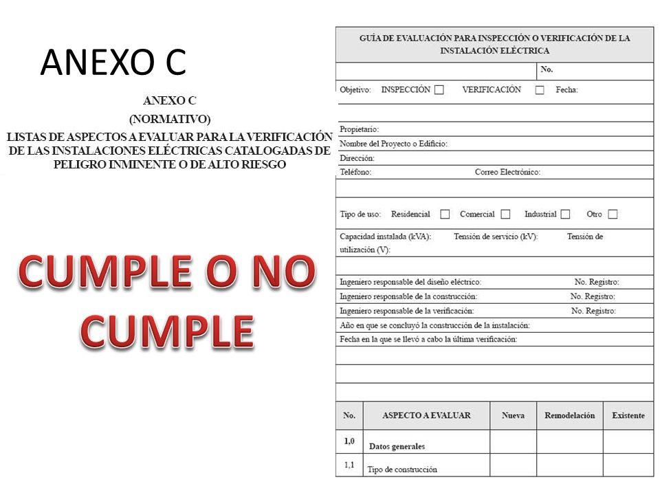 ANEXO C CUMPLE O NO CUMPLE