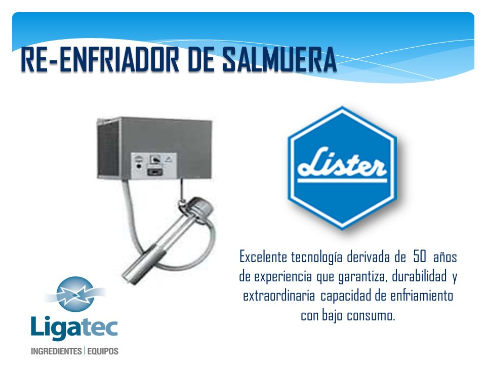 RE-ENFRIADOR DE SALMUERA