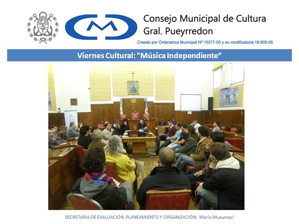 Viernes Cultural: Música Independiente