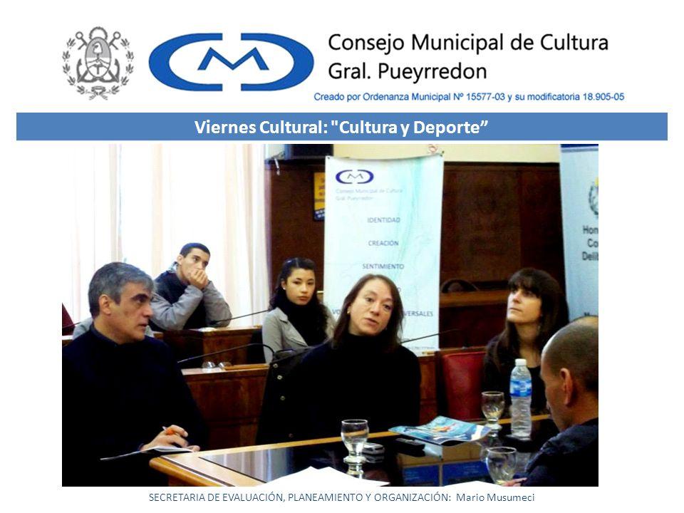 Viernes Cultural: Cultura y Deporte