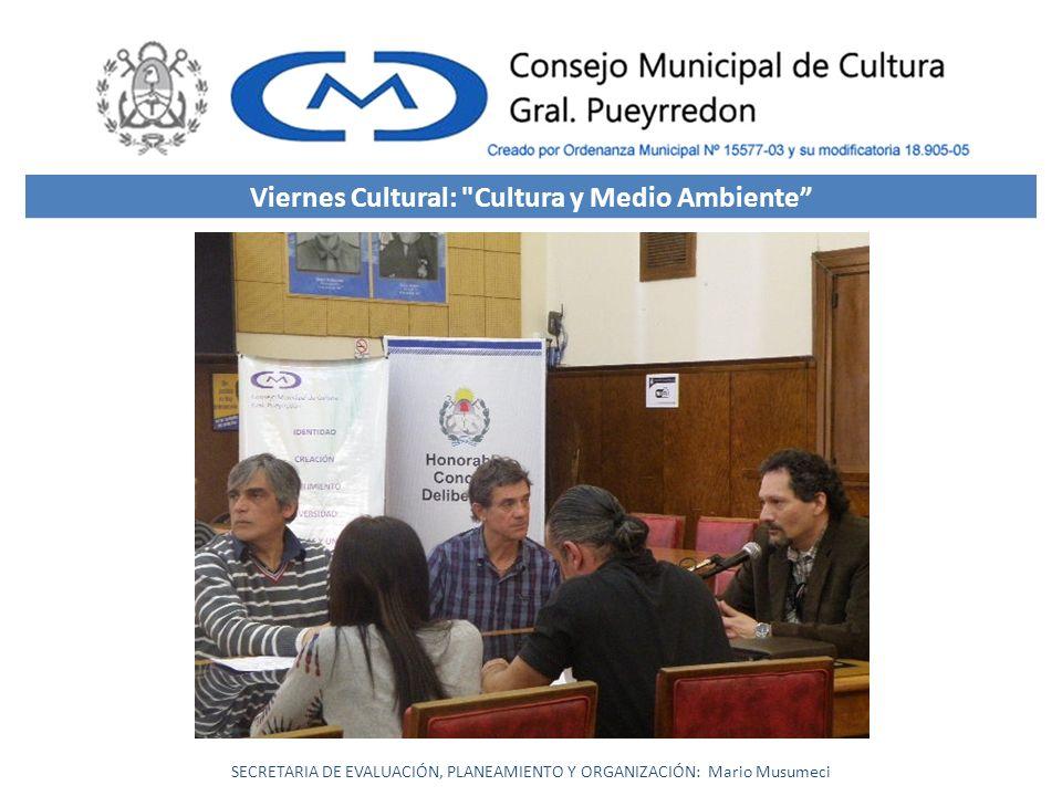 Viernes Cultural: Cultura y Medio Ambiente