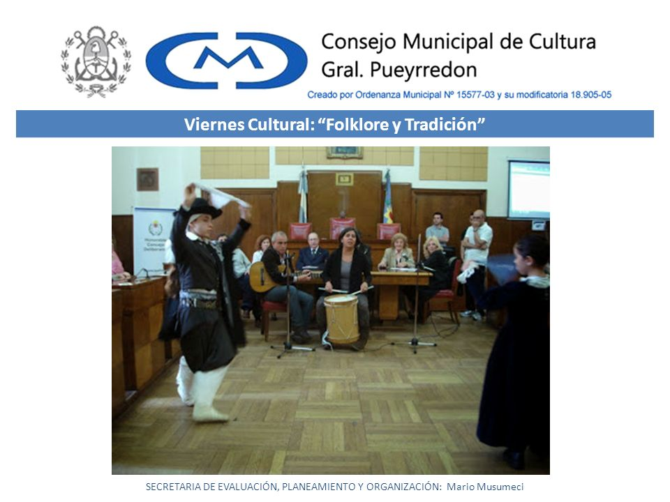 Viernes Cultural: Folklore y Tradición