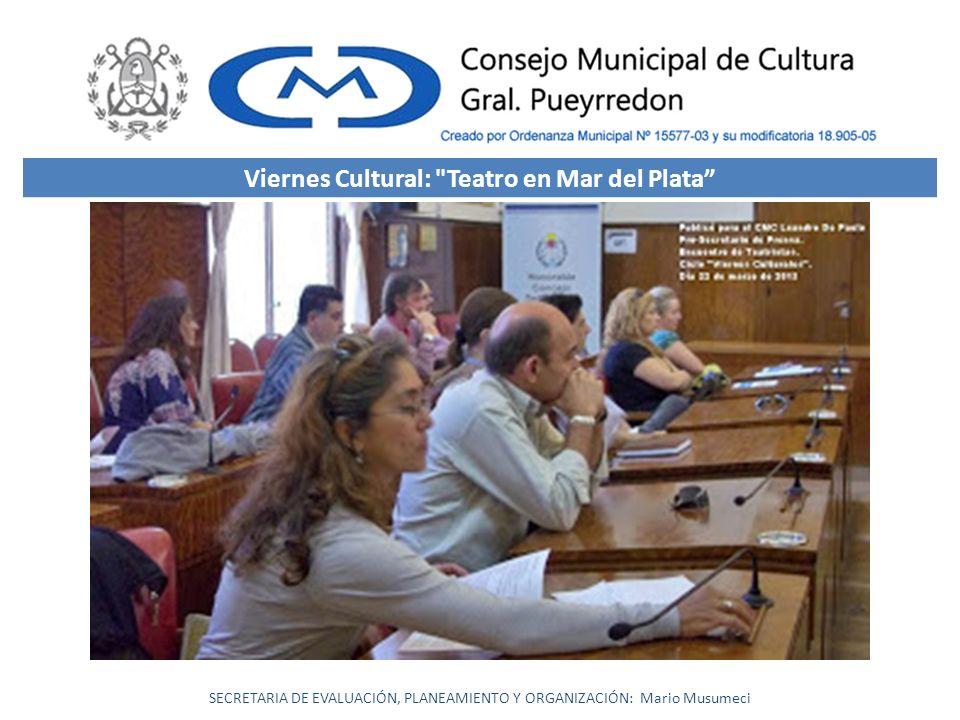 Viernes Cultural: Teatro en Mar del Plata