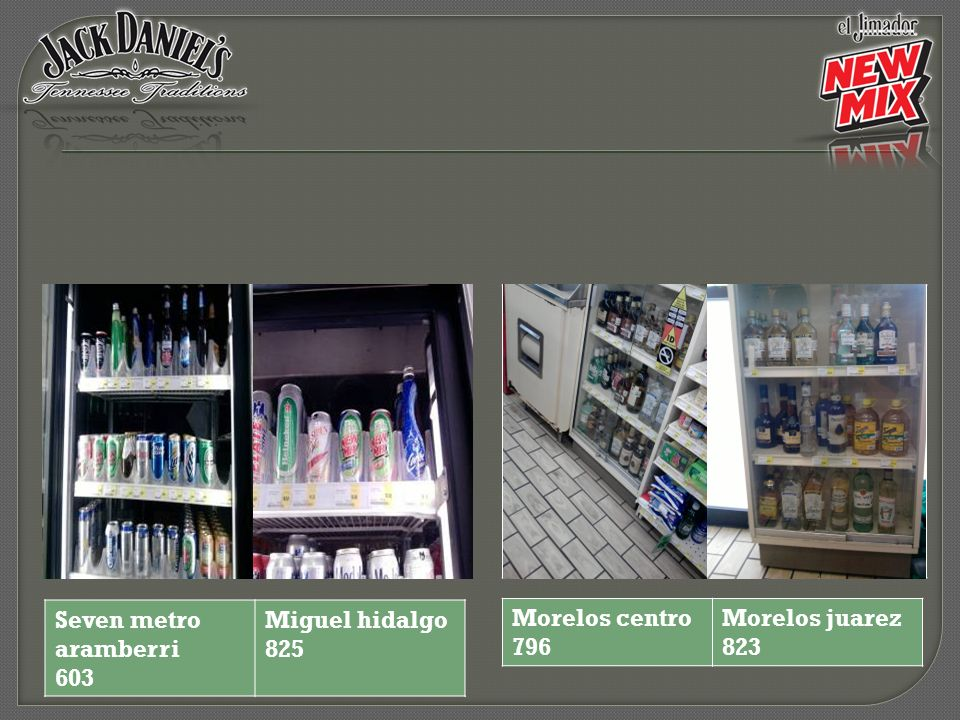 Seven metro aramberri 603 Miguel hidalgo 825 Morelos centro 796 Morelos juarez 823