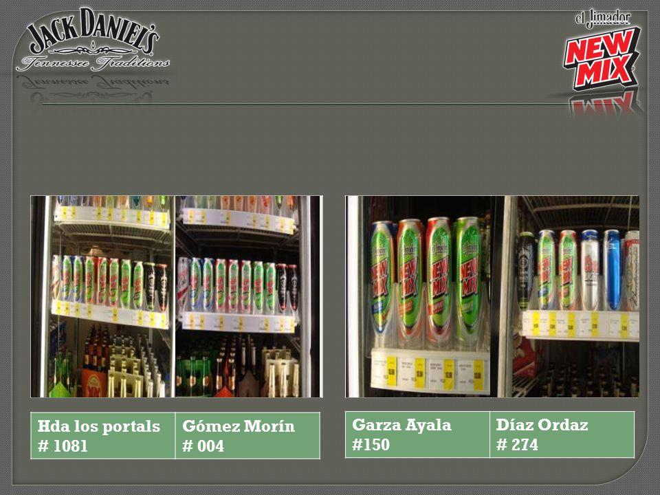 Hda los portals # 1081 Gómez Morín # 004 Garza Ayala #150 Díaz Ordaz # 274