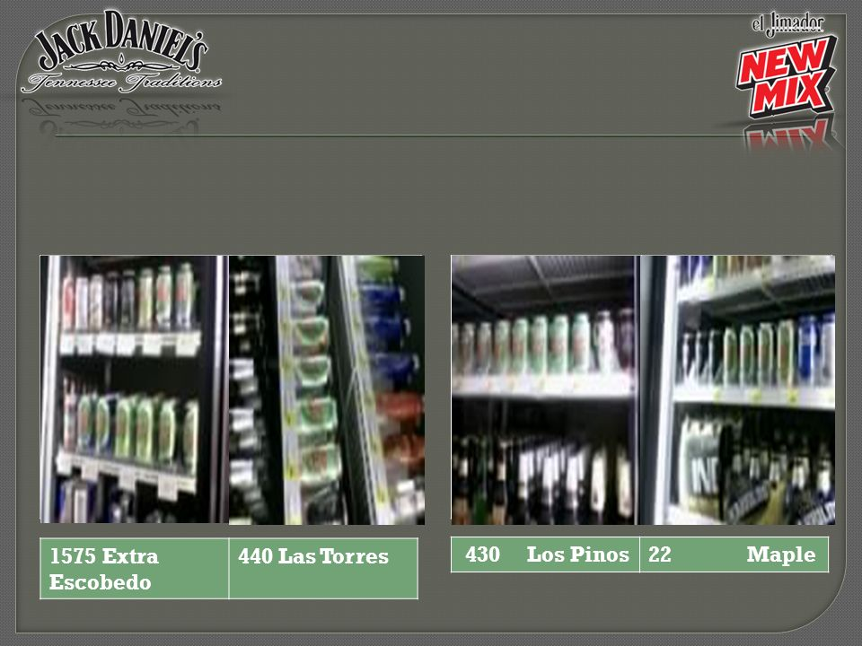 1575 Extra Escobedo 440 Las Torres 430 Los Pinos 22 Maple