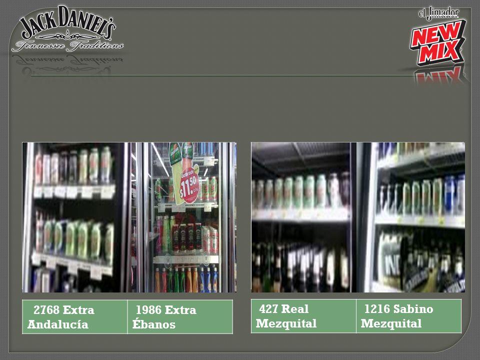 2768 Extra Andalucía 1986 Extra Ébanos 427 Real Mezquital 1216 Sabino Mezquital