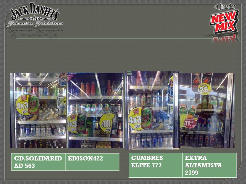 CD.SOLIDARIDAD 563 EDISON422 CUMBRES ELITE 777 EXTRA ALTAMISTA 2199