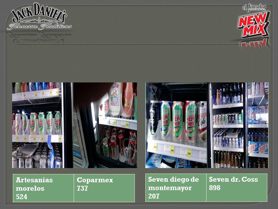 Artesanias morelos 524 Coparmex 737 Seven diego de montemayor 207 Seven dr. Coss 898
