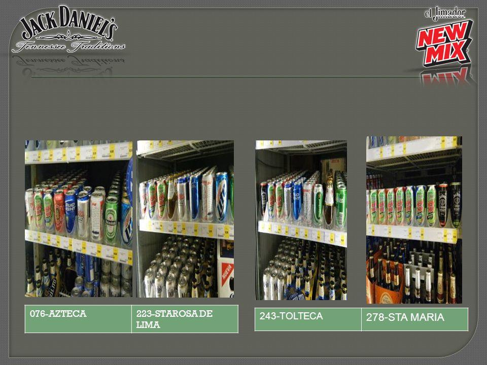 076-AZTECA 223-STAROSA DE LIMA 243-TOLTECA 278-STA MARIA