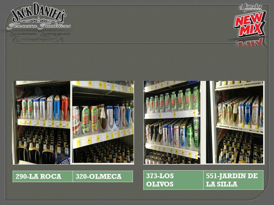 290-LA ROCA 320-OLMECA 373-LOS OLIVOS 551-JARDIN DE LA SILLA