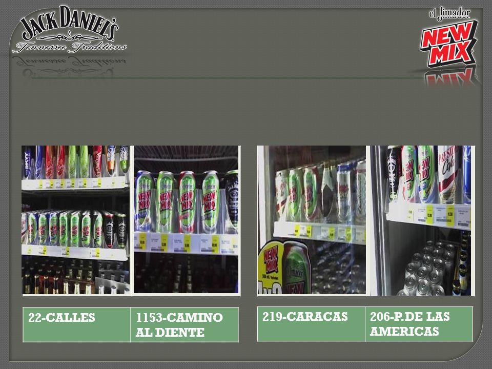 22-CALLES 1153-CAMINO AL DIENTE 219-CARACAS 206-P.DE LAS AMERICAS
