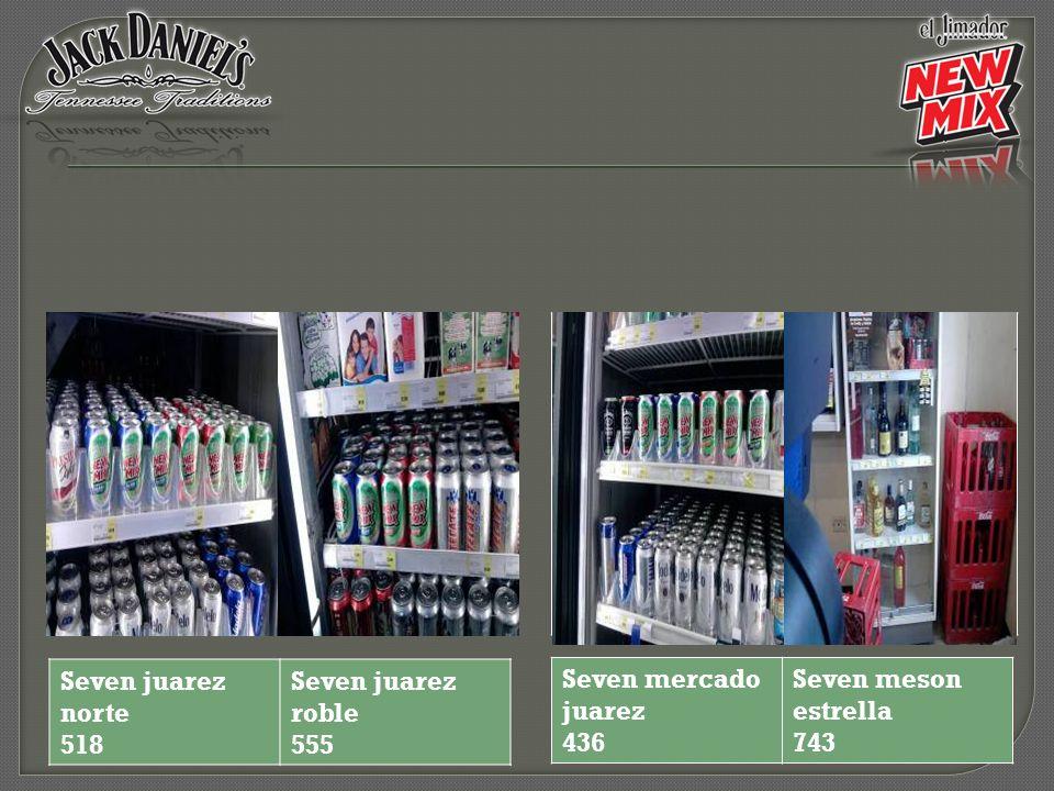 Seven juarez norte 518 Seven juarez roble 555 Seven mercado juarez 436 Seven meson estrella 743