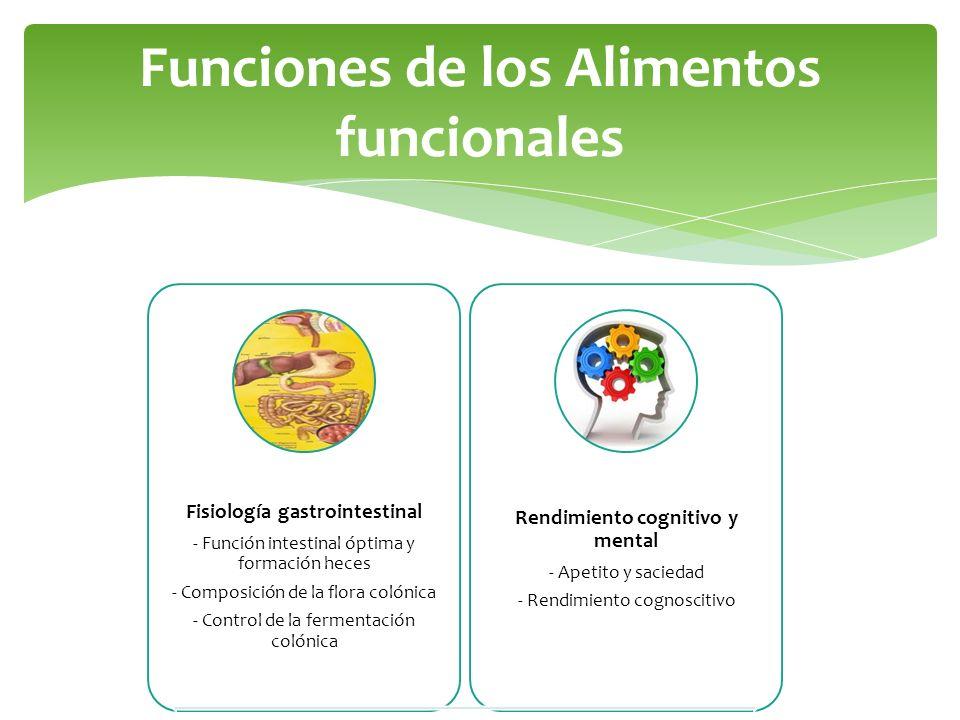 Funciones de los Alimentos funcionales