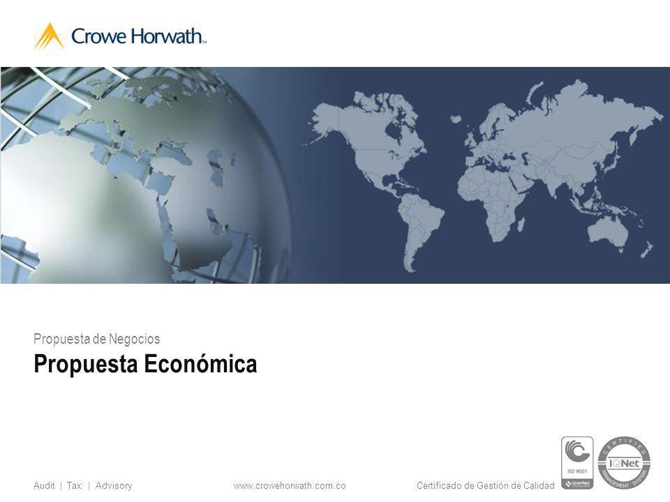 Propuesta de Negocios Propuesta Económica