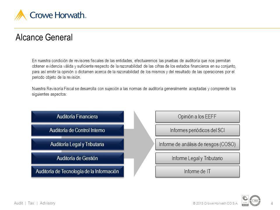 Alcance General Auditoría Financiera Opinión a los EEFF