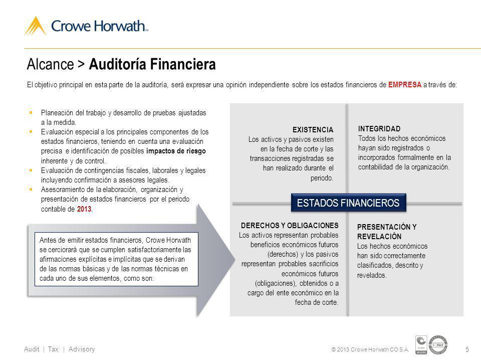 Alcance > Auditoría Financiera