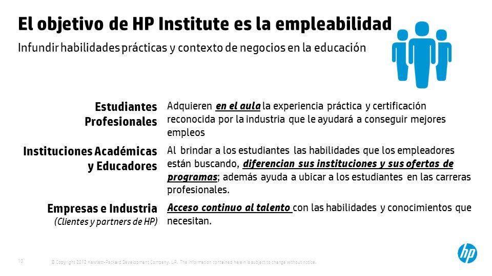 El objetivo de HP Institute es la empleabilidad