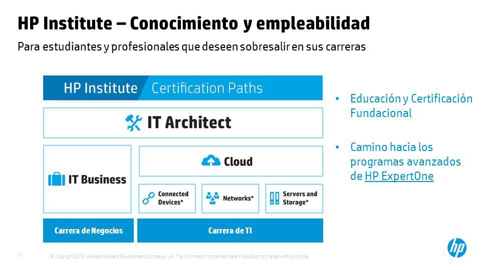 HP Institute – Conocimiento y empleabilidad