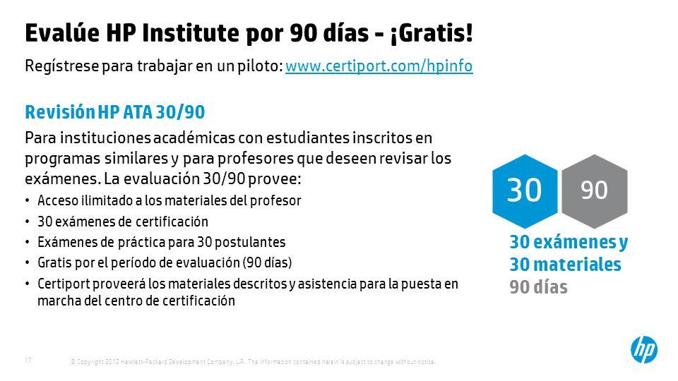 Evalúe HP Institute por 90 días - ¡Gratis!