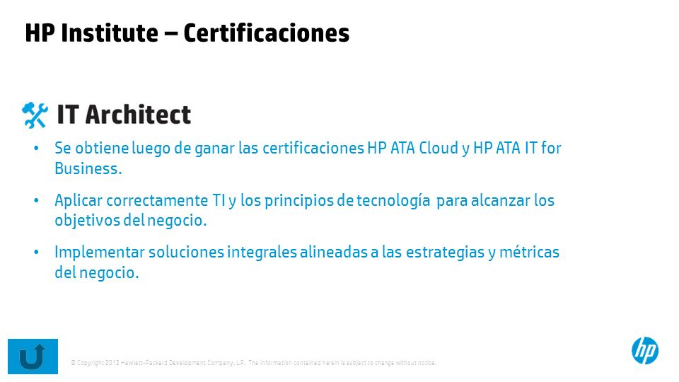 HP Institute – Certificaciones