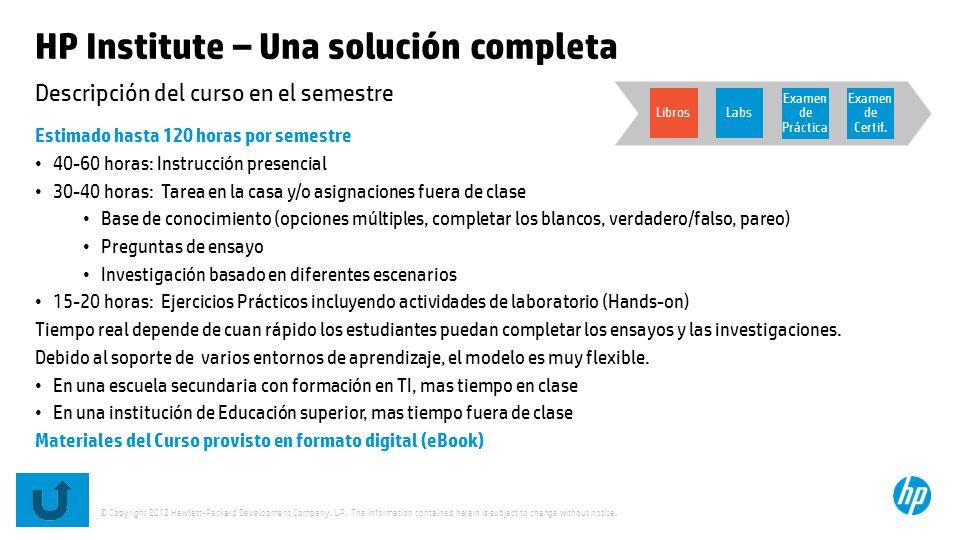 HP Institute – Una solución completa