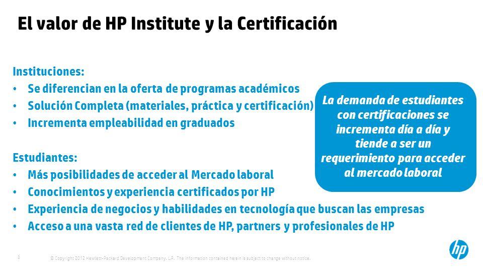 El valor de HP Institute y la Certificación