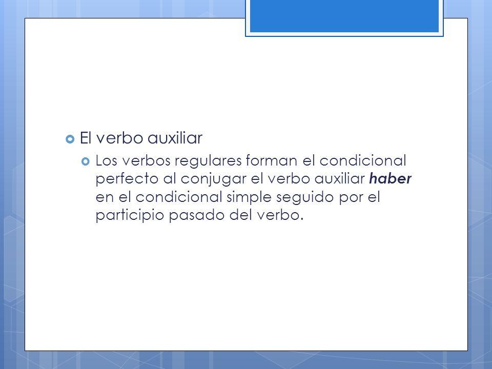 El verbo auxiliar