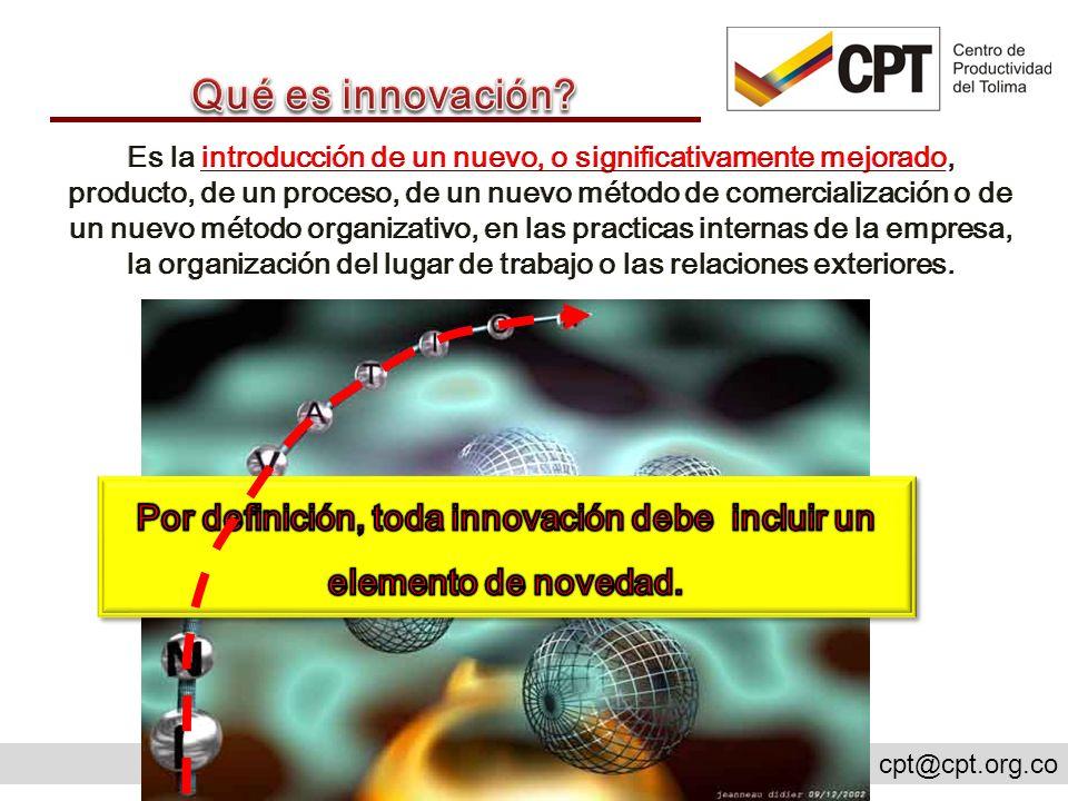 Por definición, toda innovación debe incluir un