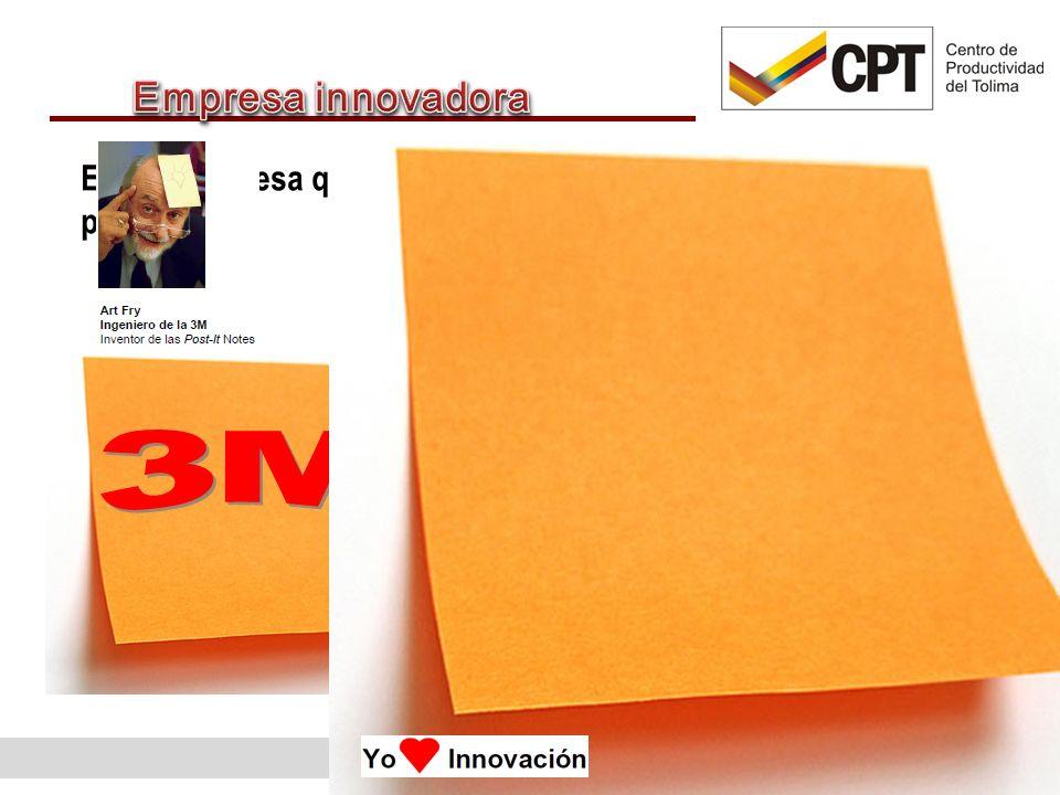 Empresa innovadora Es una empresa que ha introducido una innovación durante un periodo. 3M