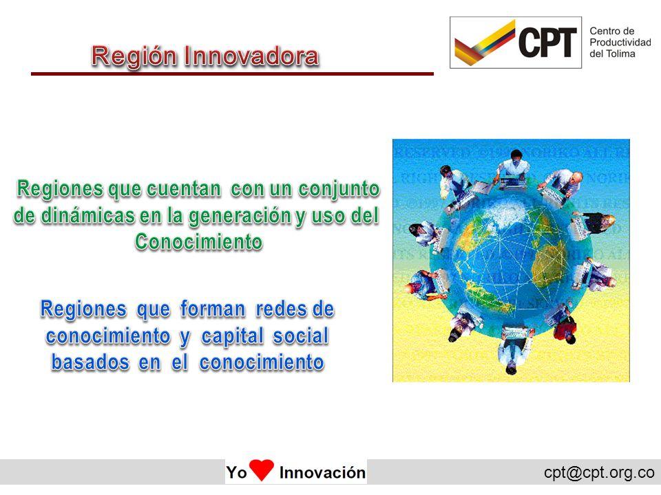 Región Innovadora Regiones que cuentan con un conjunto