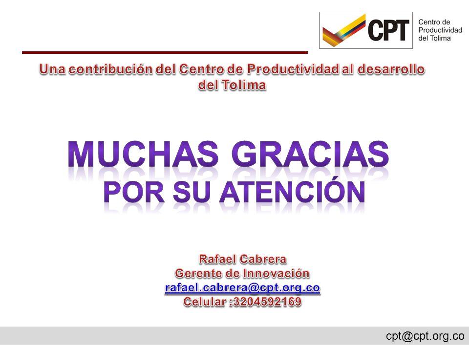 Una contribución del Centro de Productividad al desarrollo del Tolima