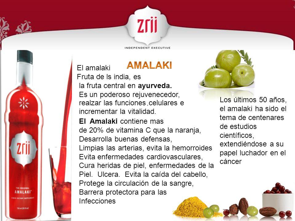 AMALAKI El amalaki Fruta de ls india, es la fruta central en ayurveda.
