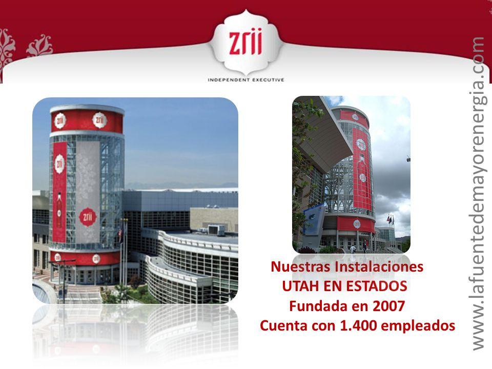 www.lafuentedemayorenergia.com Nuestras Instalaciones UTAH EN ESTADOS