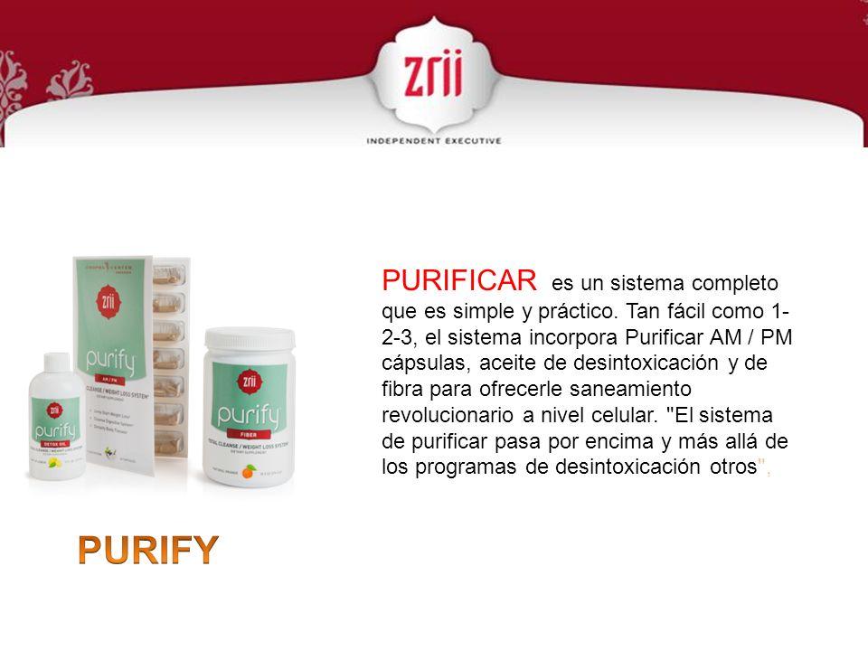 PURIFICAR es un sistema completo que es simple y práctico
