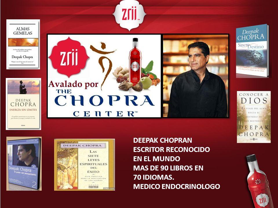 DEEPAK CHOPRAN ESCRITOR RECONOCIDO EN EL MUNDO MAS DE 90 LIBROS EN 70 IDIOMAS. MEDICO ENDOCRINOLOGO