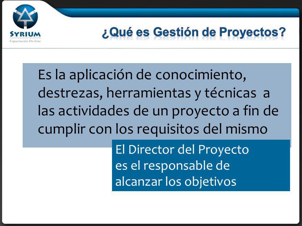 ¿Qué es Gestión de Proyectos