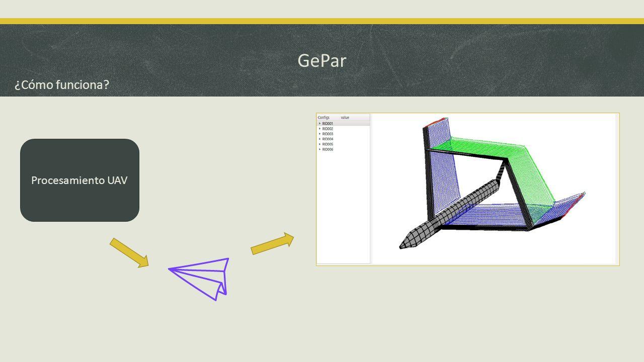 GePar ¿Cómo funciona Procesamiento UAV