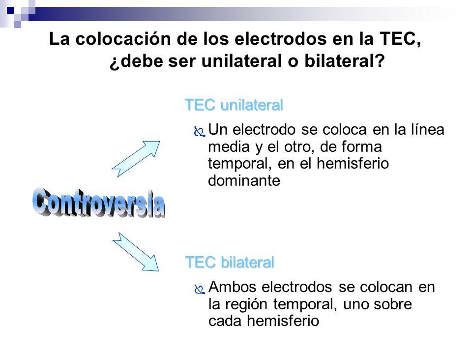 La colocación de los electrodos en la TEC, ¿debe ser unilateral o bilateral
