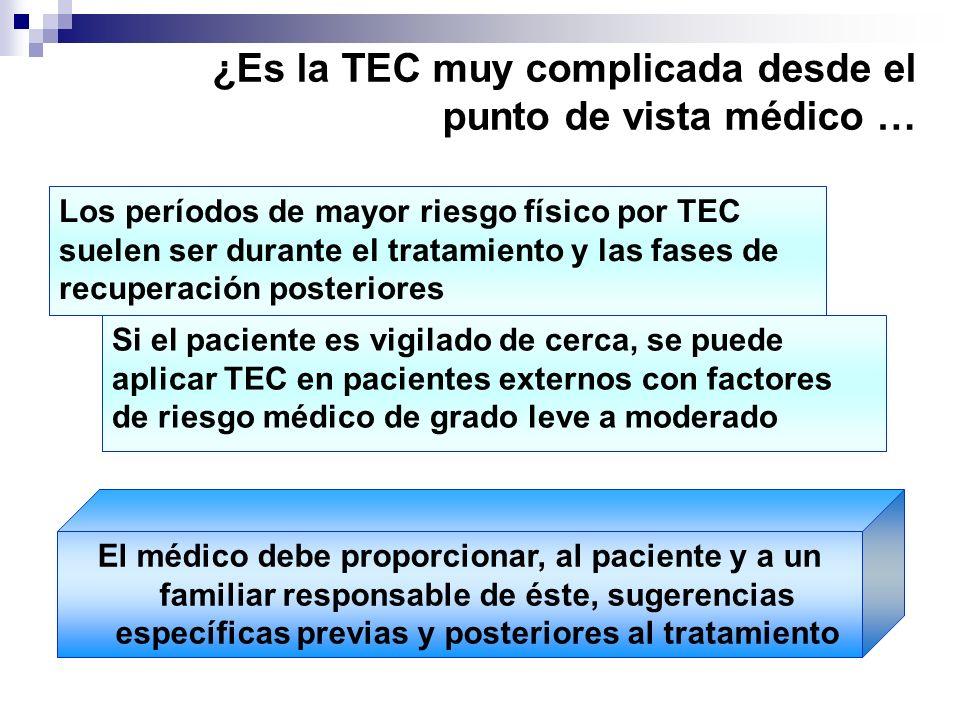 ¿Es la TEC muy complicada desde el punto de vista médico …
