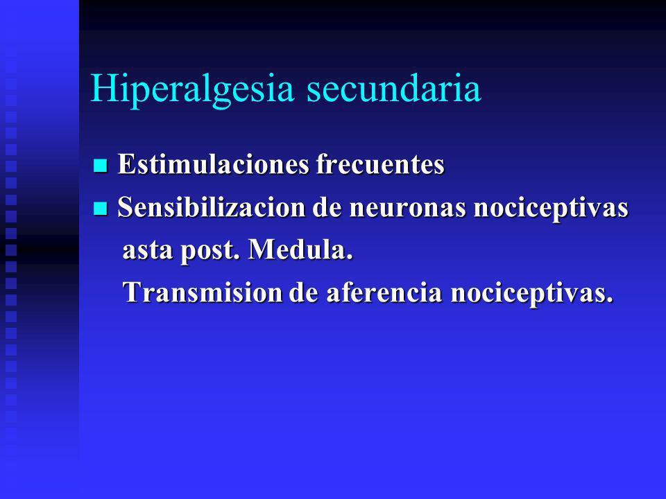 Hiperalgesia secundaria