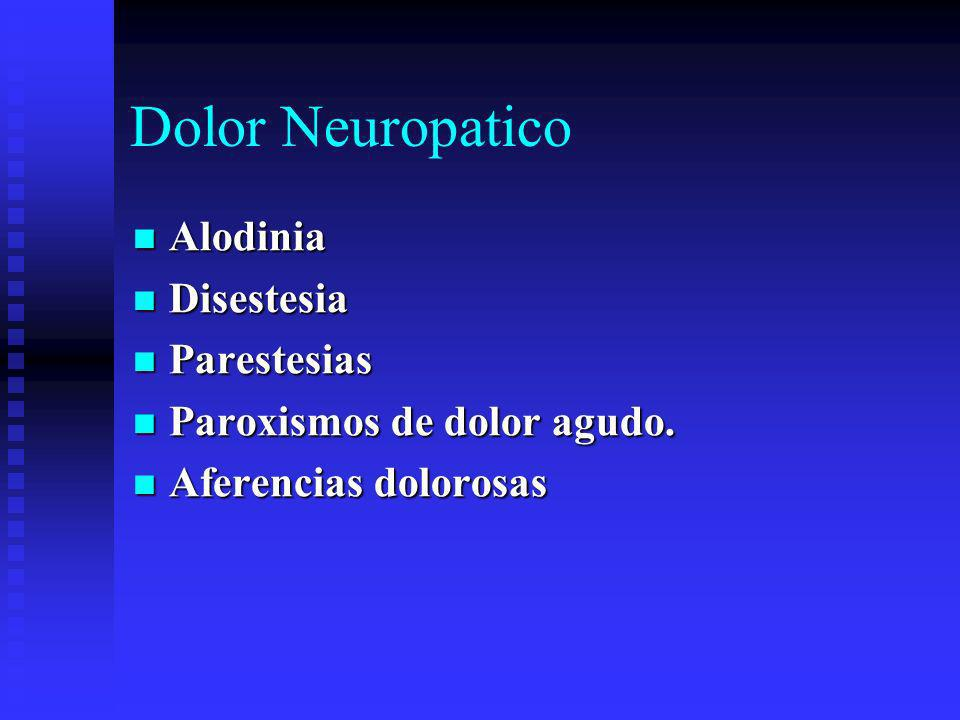 Dolor Neuropatico Alodinia Disestesia Parestesias