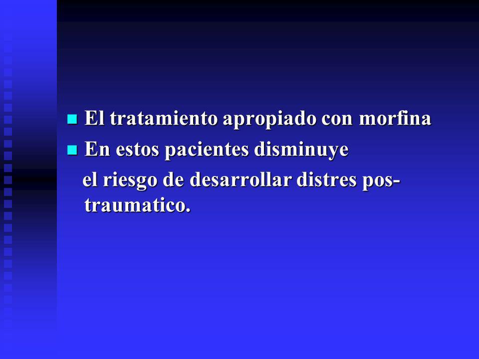El tratamiento apropiado con morfina